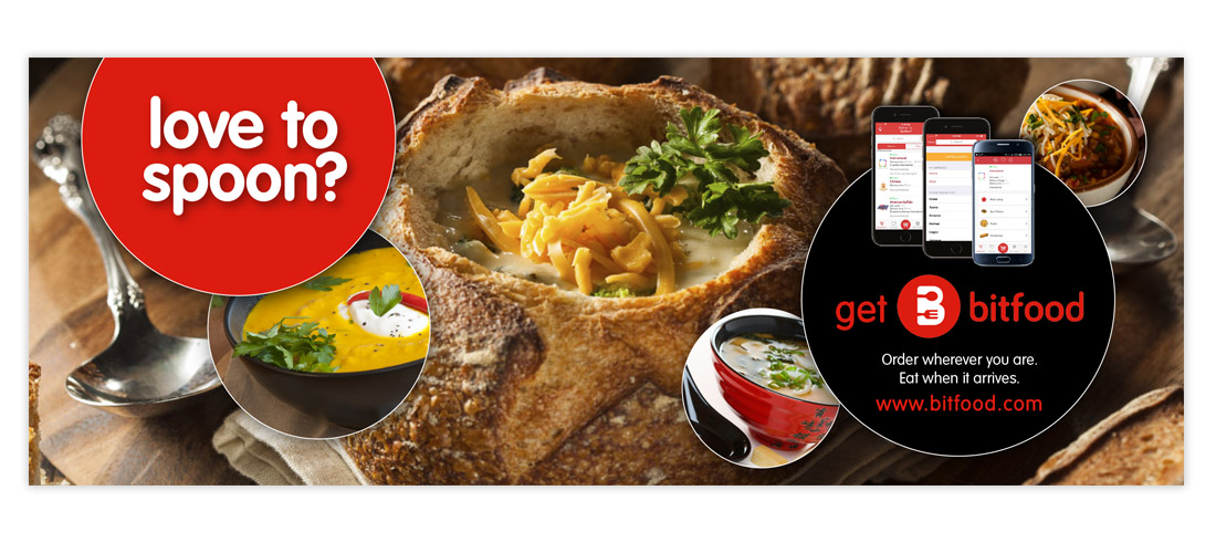 facebook banner ad for mobile app restaurant service by dallas advertising agency B12 Group