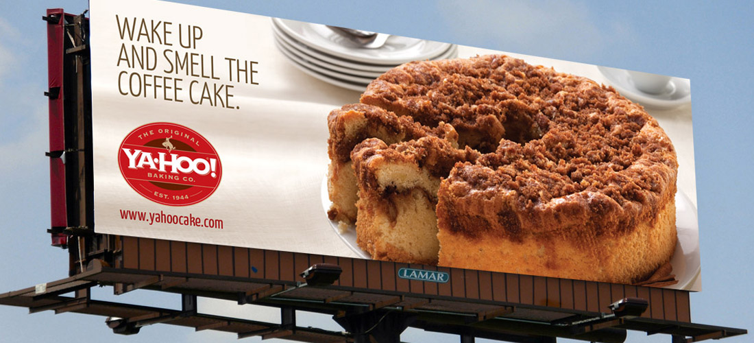 outdoor billboard for gourmet food web site by dallas advertising agency B12 Group