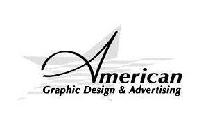 award winning brand design logo for American Graphic Design & Advertising