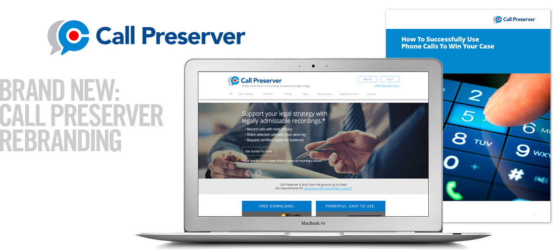 image of the Call Preserver corporate identity design system from the recent brand identity design section
