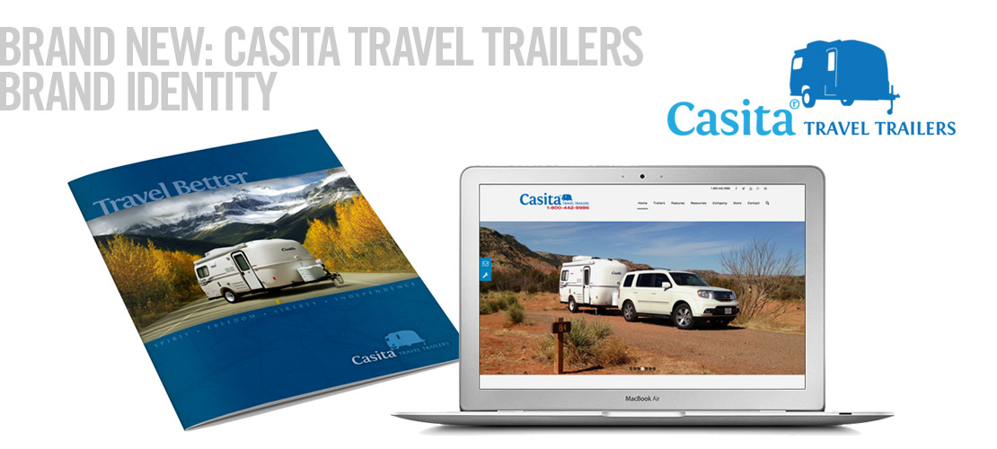 image of casita travel trailers brand identity by dallas brand identity design agency B12 Group